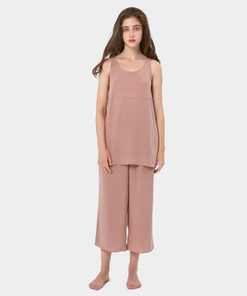 Silk Sleepwear Set | Cool silk tank top set | Nap Loungewear