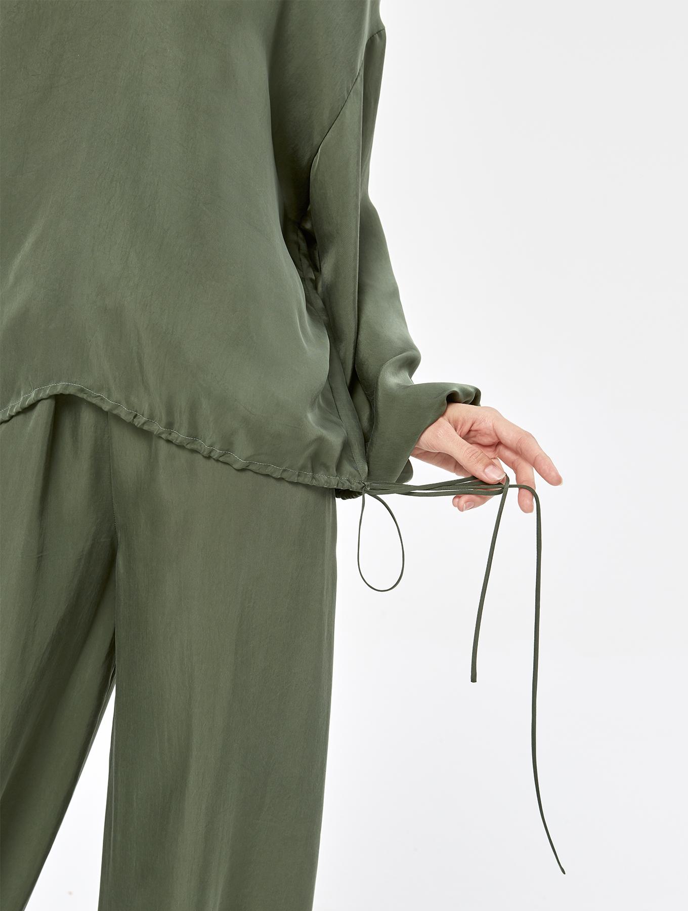 Cool Silk Puff Sleeve Set_004
