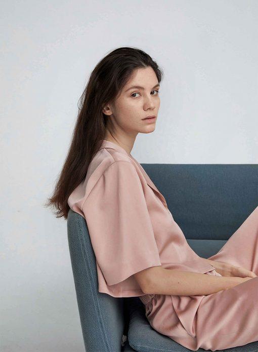 Classic Pajama Set in Dust Pink
