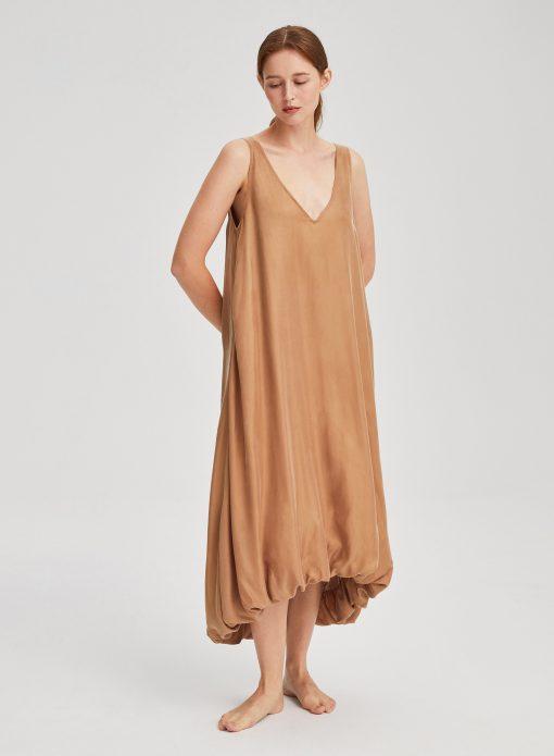 V-neck Sleeveless Long Dress