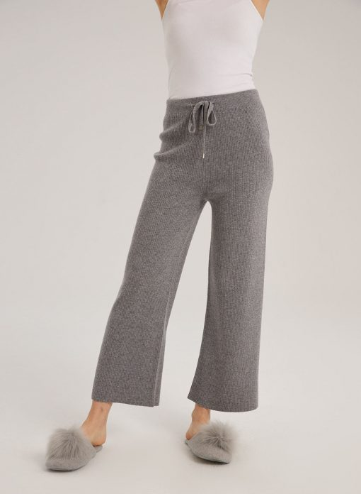 Wool Straight Drawstring Pants