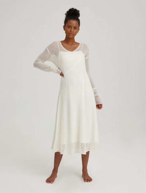 Midi Length Mesh Dress