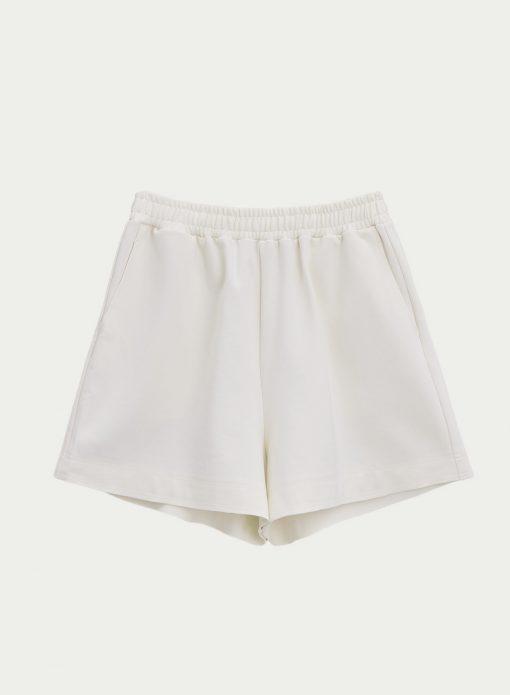 White Longe Mini Shorts