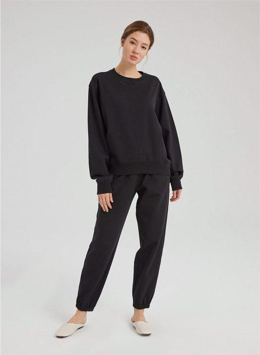 Cotton Scoop Neck Sweatshirt & Joggers