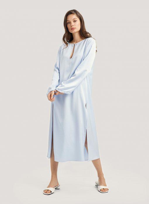 Maxi Shirt Dress Loose Nightgown
