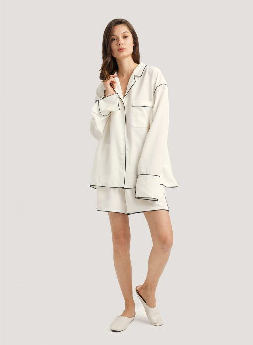 Long Sleeve Shirt & Shorts Pajama Set