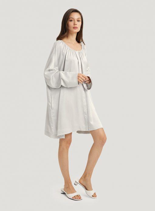 Loose Round Neck Shirt Dress
