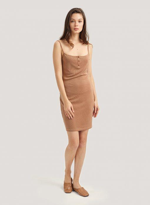 Body-con Mini Length Slip Dress