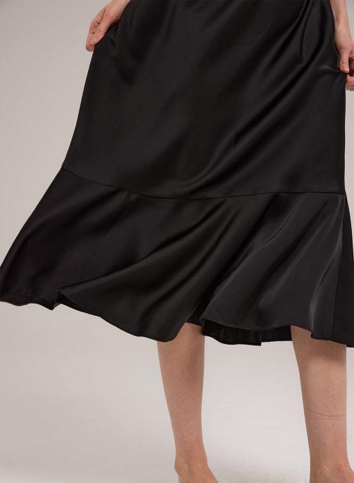 fishtail midi dress