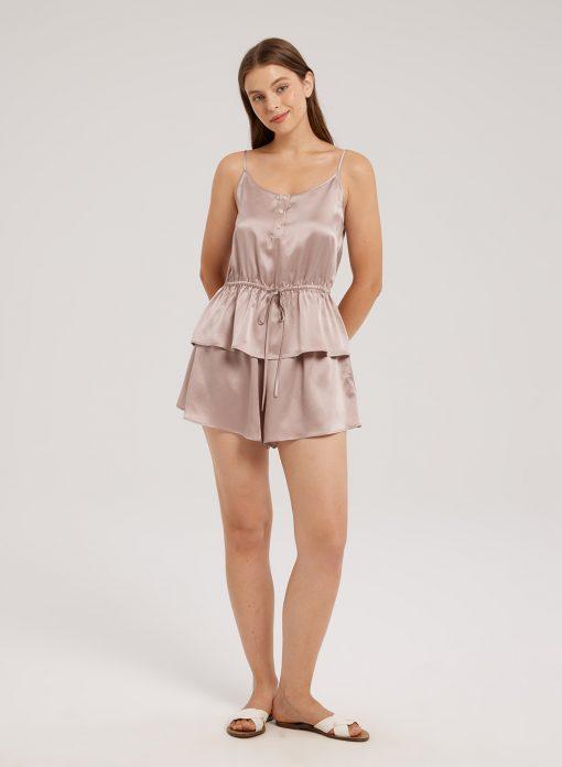 Silk-Satin Pajama Set