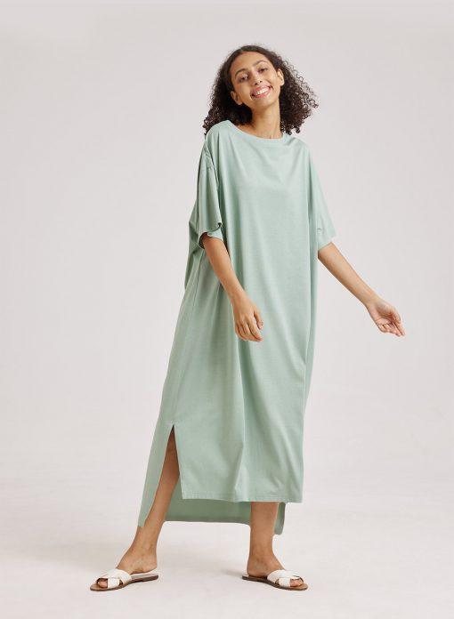 Maxi Side Slit Tee Dress