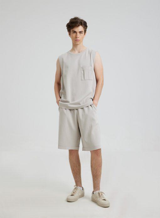 Men Cotton Tank & Shorts Set