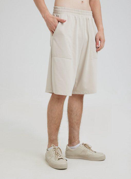 Men's Elastic Waist Pocket Shorts