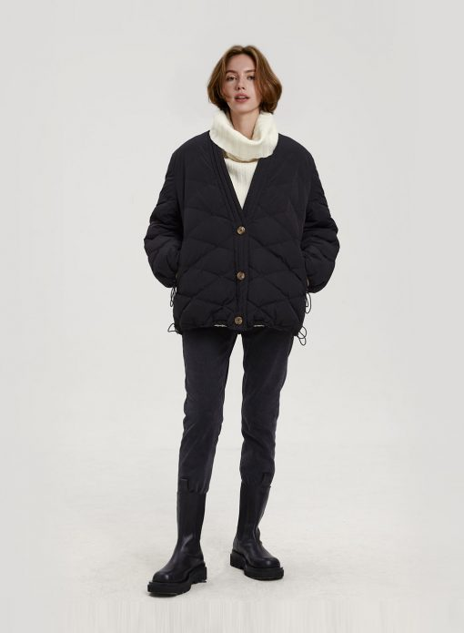 Button Padded Down Jacket