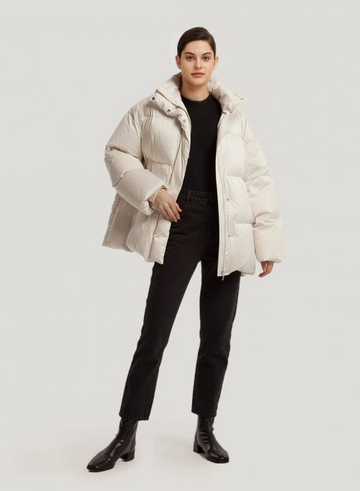 Stand Collar Puffer Down Coat